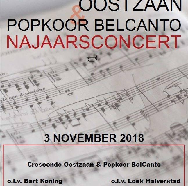 Najaarsconcert Crescendo Oostzaan & Popkoor Belcanto